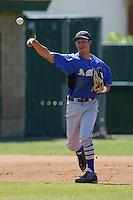 April 7, 2010: Bernardo Zavala of Bishop Amat High School during National Classic Tournament in Anaheim,CA.  Photo by Larry Goren/Four Seam Images