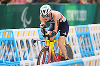29th August 2021; Tokyo, Japan; Claire Cashmore (GBR), Triathlon : <br /> Women's PTS5 during the Tokyo 2020 Paralympic Games <br /> at the Odaiba Marine Park in Tokyo, Japan.