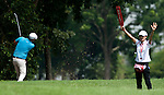 Fredrik Jacobson in action on the third fairway during Round 1 of the CIMB Asia Pacific Classic 2011.  Photo © Andy Jones / PSI for Carbon Worldwide