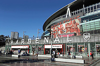 General view of 'The Emirates' main entrance from outside the ground during Arsenal Under-23 vs Liverpool Under-23, Premier League 2 Football at the Emirates Stadium on 26th August 2016