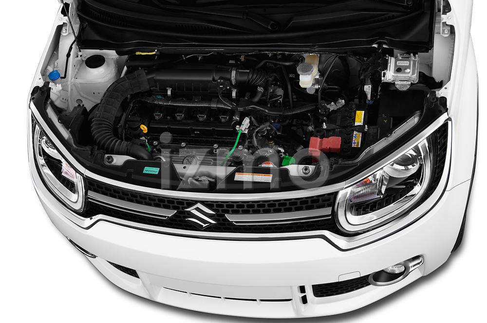 Car stock 2018 Suzuki Ignis GLX 5 Door Hatchback engine high angle detail view