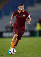 Calcio, Europa League: Roma vs Astra Giurgiu. Roma, stadio Olimpico, 29 settembre 2016.<br /> Roma's Francesco Totti in action during the Europa League Group E soccer match between Roma and Astra Giurgiu at Rome's Olympic stadium, 29 September 2016. Roma won 4-0.<br /> UPDATE IMAGES PRESS/Isabella Bonotto