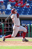 Florida State Seminoles designated hitter John Nogowski #3 during a scrimmage against the Philadelphia Phillies at Brighthouse Field on February 29, 2012 in Clearwater, Florida.  Philadelphia defeated Florida State 6-1.  (Mike Janes/Four Seam Images)