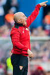 Coach Jorge Luis Sampaoli of Sevilla FC gestures during their La Liga match between Atletico de Madrid and Sevilla FC at the Estadio Vicente Calderon on 19 March 2017 in Madrid, Spain. Photo by Diego Gonzalez Souto / Power Sport Images