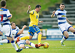 Greenock Morton v St Johnstone….09.07.19      Cappielow        Pre-Season Friendly<br />Danny Swanson skips a tackle from Jim McAlister<br />Picture by Graeme Hart. <br />Copyright Perthshire Picture Agency<br />Tel: 01738 623350  Mobile: 07990 594431