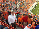 Sharpstown soccer players attend a Houston Dynamo game.