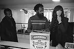 Gareth Peirce Human Right lawyer with Frank Crichlow of the Mangrove Restaurant Cafe Notting Hill. West London 1978.