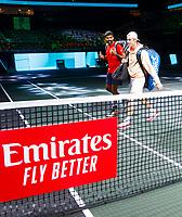 Rotterdam, The Netherlands, 9 Februari 2020, ABNAMRO World Tennis Tournament, Ahoy, Doubles: Jean-Julien Rojer (NED) and Horia Tecau (ROU), Rohan Bopanna (IND) and Denis Shapovalov (CAN).<br /> Photo: www.tennisimages.com