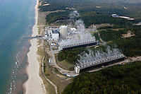 aerial photograph of Palisades Nuclear Generating Station Covert Township Michigan