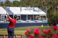 14th March 2021; Ponte Vedra Beach, Florida, USA;  Adam Scott of Australia plays a shot on the 17th hole during the final round of THE PLAYERS Championship on March 14, 2021 at TPC Sawgrass Stadium Course in Ponte Vedra Beach, Fl.