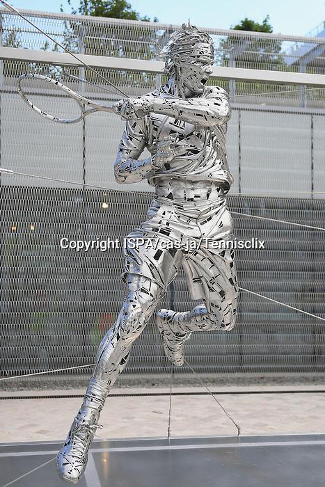 Raphael Nadal Statue at Stade Roland Garros