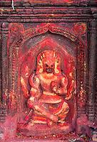 Nepal, Kathmandu.  Bhimsen, God of Business and of Physical Strength.