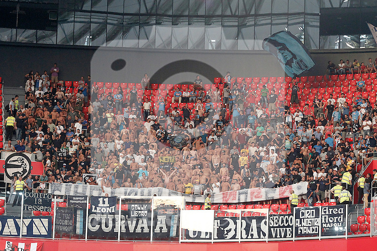SSC Napoli's supporters during Champions League 2014/2015 Play-off 2nd leg match.August 27,2014. (ALTERPHOTOS/Acero)