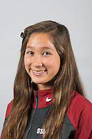 STANFORD, CA - Isabella Park of the Stanford University Women's Synchronized Swimming Team
