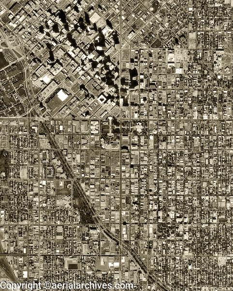 historical aerial photograph Denver, Colorado, 1999