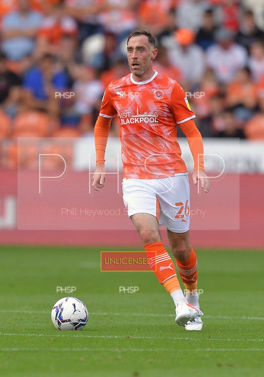 11/09/2021 Sky Bet Championship Blackpool v Fulham<br /> <br /> Richard Keogh, Blackpool FC