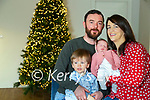 The first Kerry baby of 2021New Years Fiadh Moloney pictured with her parents Ricky and Caitríona and brother Éanna at their home in Lisanearla, Abbeydorney.
