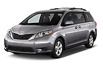 2017 Toyota Sienna LE 5 Door Mini Van angular front stock photos of front three quarter view