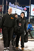 Tommy George, Chuck Van Kula (BC - Student Manager) - The Boston College Eagles defeated the Providence College Friars 3-1 (EN) on Sunday, January 8, 2017, at Fenway Park in Boston, Massachusetts.The Boston College Eagles defeated the Providence College Friars 3-1 (EN) on Sunday, January 8, 2017, at Fenway Park.