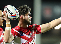 20th November 2020; Totally Wicked Stadium, Saint Helens, Merseyside, England; BetFred Super League Playoff Rugby, Saint Helens Saints v Catalan Dragons ; Jack Welsby of St Helens holds the ball