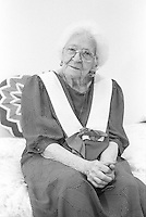 Montreal (Qc) CANADA - May 1992 File Photo -  Model released photo of a senior woman
