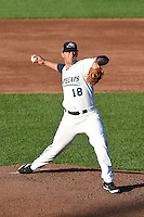 West Michigan Whitecaps pitcher Jonathon Crawford (18) delivers a pitch during a game against the Great Lakes Loons on June 5, 2014 at Fifth Third Ballpark in Comstock Park, Michigan.  West Michigan defeated Great Lakes 6-2.  (Mike Janes/Four Seam Images)