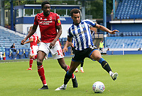 Sheffield Wednesday's Jacob Murphy under pressure from Nottingham Forest's Nottingham Forest's Sammy Ameobi <br /> <br /> Photographer Rich Linley/CameraSport<br /> <br /> The EFL Sky Bet Championship - Sheffield Wednesday v Nottingham Forest - Saturday 20th June 2020 - Hillsborough - Sheffield <br /> <br /> World Copyright © 2020 CameraSport. All rights reserved. 43 Linden Ave. Countesthorpe. Leicester. England. LE8 5PG - Tel: +44 (0) 116 277 4147 - admin@camerasport.com - www.camerasport.com