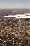 Aerial view of  suburban view Buenos Aires Argentina South America BsAs 2000s 2002