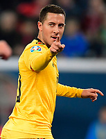 Eden Hazard midfielder of Belgium celebrates scoring a goal   <br /> Saint Petersbourg  - Qualification Euro 2020 - 16/11/2019 <br /> Russia - Belgium <br /> Foto Photonews/Panoramic/Insidefoto <br /> ITALY ONLY