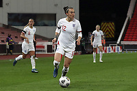13th April 2021; Bet365 Stadium, Stoke, England; Lucy Bronze of England in action during the womens International Friendly match between England and Canada