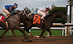 """Fioretti and jockey Sophie Doyle win the 35th running of the Thoroughbred Club of America (Grade 2) $250,000 """"Win and You're In Filly & Mare Sprint Division"""" for trainer Anthony Hamilton Jr. and owner Two Hearts Farm. Samantha Bussanich/ESW/Cal Sport Media"""