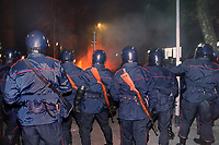 """- Milano, Carabinieri in ordine pubblico durante gli scontri di piazza dopo un raduno del gruppo neonazista """"Forza Nuova""""<br /> <br /> - Milan,  Carabinieri in public order during street clashes after a rally of neo-nazi group """"Forza Nuova"""""""