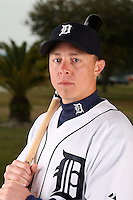 February 27, 2010:  Infielder Brandon Inge (15) of the Detroit Tigers poses for a photo during media day at Joker Marchant Stadium in Lakeland, FL.  Photo By Mike Janes/Four Seam Images