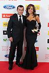 Richi Castellanos and Grecia Castta pose during AS Sport Female Awards ceremony in Madrid, Spain. December 15, 2014. (ALTERPHOTOS/Victor Blanco)