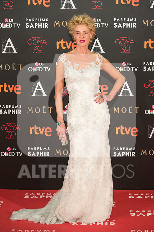 Belen Rueda attends 30th Goya Awards red carpet in Madrid, Spain. February 06, 2016. (ALTERPHOTOS/Victor Blanco)