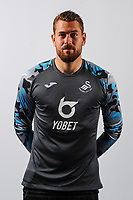 Kristoffer Nordfeldt of Swansea City poses for a head shot at Fairwood Training Ground in Swansea, Wales, UK. Thursday 18, July 2019