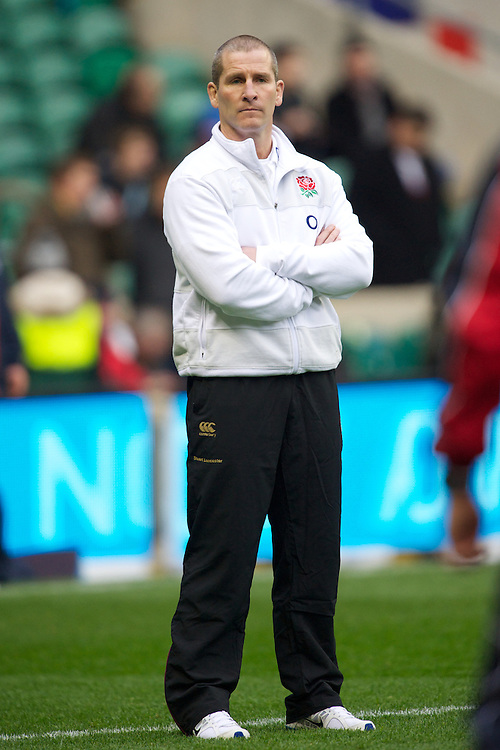 Stuart Lancaster, England Team Manager, before the QBE Autumn International match between England and New Zealand at Twickenham on Saturday 01 December 2012 (Photo by Rob Munro)