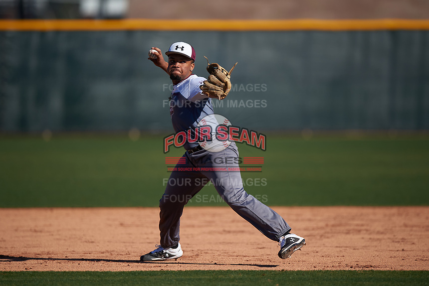 Noah Bennett during the Under Armour All-America Tournament powered by Baseball Factory on January 18, 2020 at Sloan Park in Mesa, Arizona.  (Zachary Lucy/Four Seam Images)