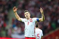 04.09.2017, Warszawa, pilka nozna, kwalifikacje do Mistrzostw Swiata 2018, Polska - Kazachstan, Robert Lewandowski (POL)  gol bramka radosc, Poland - Kazakhstan, World Cup 2018 qualifier, football, fot. Tomasz Jastrzebowski / Foto Olimpik<br /><br />POLAND OUT !!! *** Local Caption *** +++ POL out!! +++<br /> Contact: +49-40-22 63 02 60 , info@pixathlon.de