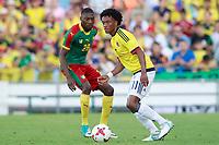 Colombia's Juan Guillermo Cuadrado (r) and Cameroon's Karl Toko Ekambi during international friendly match. June 13,2017.(ALTERPHOTOS/Acero) (NortePhoto.com) (NortePhoto.com)