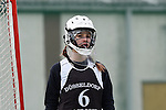 Frankfurt am Main, Germany, March 14: During the Damen 1. Bundesliga West Lacrosse match between SC 1880 Frankfurt and Duesseldorfer Hirschkuehe on March 14, 2015 at the SC 1880 Frankfurt in Frankfurt am Main, Germany. Final score 20-13 (13-8). (Photo by Dirk Markgraf / www.265-images.com) *** Local caption *** Hannah Laxy #6 of Duesseldorfer Hirschkuehe
