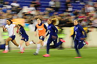 HARRISON, NJ - MARCH 08: Jessica McDonald #22, Andi Sullivan #6, Tierna Davidson #12, Casey Short #20, and Mallory Pugh #2 of the United States during a game between Spain and USWNT at Red Bull Arena on March 08, 2020 in Harrison, New Jersey.