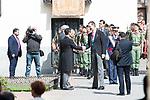 "King Felipe VI of Spain arrives to University of Alcala de Henares during award ceremony of literature in Spanish ""Miguel de Cervantes"" to in Madrid., April 20, 2017. Spain.<br /> (ALTERPHOTOS/BorjaB.Hojas)"