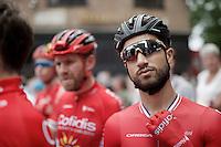 last years winner Nacer Bouhanni (FRA/Cofidis) at the start<br /> <br /> 69th Halle-Ingooigem 2016 (200km)