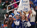Carson fans cheer during the NIAA D-1 Northern Regional title game against Reed at Bishop Manogue High School in Reno, Nev., on Saturday, Nov. 29, 2014. Reed won 28-25.<br /> Photo by Cathleen Allison