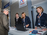 Rotterdam, Netherlands, December 16,  2017, Topsportcentrum,  KNLTB Jaarcongres, entree,  <br /> Photo: Tennisimages/Henk Koster