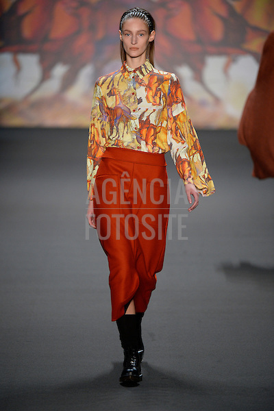 Berlim, Alemanha – 01/2014 - Desfile de Kerner durante a Semana de moda de Berlim - Inverno 2014. <br /> Foto: FOTOSITE