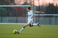 Sari Kees (2) of OHL in action during a female soccer game between Oud Heverlee Leuven and Racing Genk on the 14 th matchday of the 2020 - 2021 season of Belgian Womens Super League , sunday 28 th of February 2021  in Heverlee , Belgium . PHOTO SPORTPIX.BE | SPP | SEVIL OKTEM