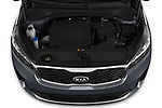 Car Stock 2020 KIA Sorento S-V6 5 Door SUV Engine  high angle detail view