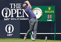 15th July 2021; Royal St Georges Golf Club, Sandwich, Kent, England; The Open Championship, PGA Tour, European Tour Golf ,First Round ; Daniel Croft (ENG) hits his driver from the first tee